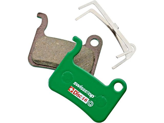 SwissStop Disc 16 Organic Brake Pads Shimano TRP green